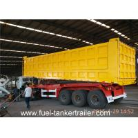 Wholesale Tri Axles Side dumper trailer truck with 10 / 10 / 10 Heavy duty leaf spring suspension from china suppliers