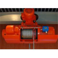 Wholesale High Efficiency Wire Rope Electric Hoist And Trolley , Electric Winches For Lifting from china suppliers