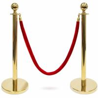 Wholesale Sleek Design Metal Stanchion Posts , Easy Assembly Retractable Belt Crowd Control Stanchions from china suppliers