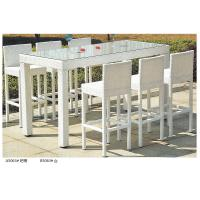 Wholesale 2014 fashion white rattian bar table and bar chair set from china suppliers