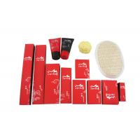 Wholesale Disposable Hotel Amenities Set , Hotel Room Amenities Red Black Color 14 Items from china suppliers