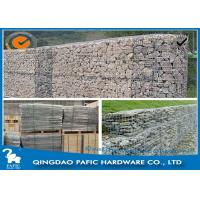 Wholesale Galvanized / PVC Coated Steel Gabion Baskets / Wire Gabion Mesh Container from china suppliers