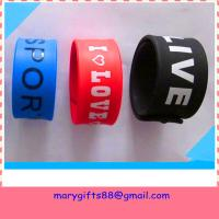 Wholesale china supply promotional silicone rubber slap wristband from china suppliers