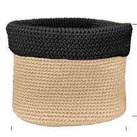 Wholesale Two Color Mixed Crochet Fabric Baskets Cylinder Crochet Coiled Basket For Gift from china suppliers