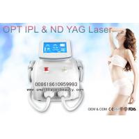 Wholesale 2 In 1 SHR IPL Hair Removal Machine , Q Switch ND YAG Laser Tattoo Removal from china suppliers