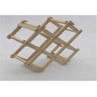 Wholesale Eco - Friendly Wooden Wine Storage Rack Shelf Foldable Small Storage Shelves Racks from china suppliers