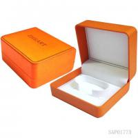 Buy cheap Yellow Handmade Leather Womens Watch Box White Velvet Inside from wholesalers