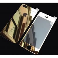Wholesale Gold Tempered Glass Screen Protector Mirror Film For Iphone 5s Front Back from china suppliers