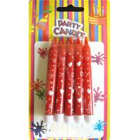 Wholesale Red Straight Body Print Birthday Candles Full And Hollow Heart 10 Holders from china suppliers
