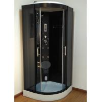 Wholesale 900mm Sector Sliding Glass Shower Cabin With Black Frame / Computer Control from china suppliers