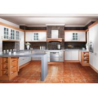 Wholesale U Shaped Thermofoil Kitchen Cabinets With Stainless Steel Appliances And Dishwasher from china suppliers