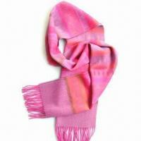 Wholesale 100% Cashmere Scarf for Ladies, Azo-free, No Harm Dyes, Customized Designs and Sizes are Accepted from china suppliers