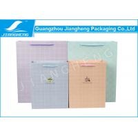 Wholesale Colored Paper Packaging Bags , Check Pattern Cmyk Printing Branding Paper Bags from china suppliers