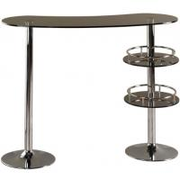 Wholesale European Glass Outdoor Pub Table Tall Fashionable With 2 Metal Legs from china suppliers