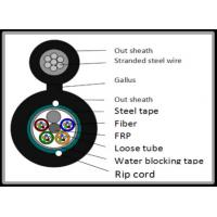 Quality 12 Core Steel Tape armoured Figure 8 Fiber Optic Cable Long Diatance Data for sale
