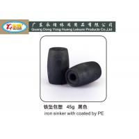 Wholesale Die casting Coated pe iron lead sinker weights for fishing net 28G from china suppliers