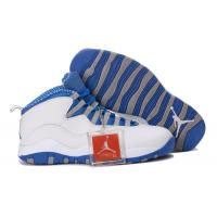 China Nike Air Jordan 10 Retro White/Old Royal-Stealth Grey sports shoes 666 on sale
