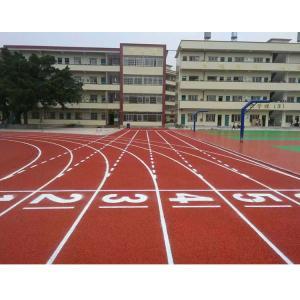 Polyurethane Jogging Track Flooring , Comfortable Synthetic Jogging Track