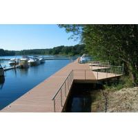 Wholesale Brown Water-resistant WPC Decking Flooring Recyclable For Walk Road from china suppliers