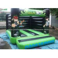 Wholesale Ben 10 Large Green Inflatable Bouncy Castles For Kids , Made of 610g/m2 PVC Tarpaulin from china suppliers