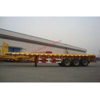 Quality 3 Axle 40ft 20 Foot Flatbed Trailer / Container , Semi Flat Bed Trailer for sale
