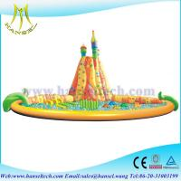 Wholesale Hansel Inflatable Water Trampoline With Small Slides For Family Swimming Pool Water Park from china suppliers