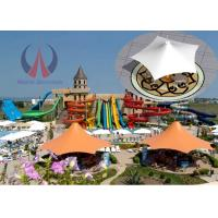 Wholesale Membrane Sheet Polygon Shade Structures , Large Sun Shade Canopy For Theme Parks from china suppliers