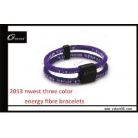 Wholesale CE Colorful Adjustable Size High Elasticity Fabric Ion Power Balance Silicone Bracelet from china suppliers