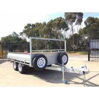 Wholesale Hot Dipped Galvanized 10 x 5 Single Axle Flat Top Trailer , Tandem Axle Trailer from china suppliers