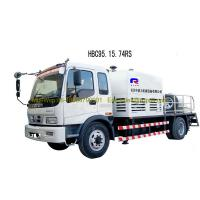 Wholesale Truck Mounted Concrete Pumping Equipment , Air Cooling Large Concrete Pump from china suppliers
