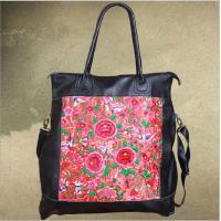 Wholesale OEM factory Real Leather Embroidery Shoulder Bag brand designer large capacity shoulder bag our only design from china suppliers