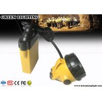 Wholesale 3W 10.4Ah Underground Miner Cap Lamp ,  Rechargeable LED Headlamp with Warning Light from china suppliers