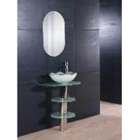 Wholesale Free Standing Glass Cabinet Bathroom Vanity 5164 from china suppliers