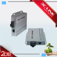 Wholesale Single Port Ethernet To Fiber Optic Converter / Fiber Media Converter 1 Year Warranty from china suppliers