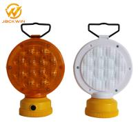 Wholesale High Brightness LED*24pcs  12V Amber and Red Roadside Flashing Battery Barricade Warning Lights from china suppliers