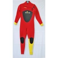 Wholesale Red and Yellow  Women  Diving Suit  with Mesh on Chest and back from china suppliers