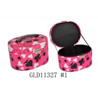 Zippered Small Round Travel Jewelry Case , Round Jewellery Box With Handle