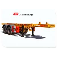 Wholesale 20 Ft Commercial Flatbed Trailer Equipment , Carbon Steel Beam Heavy Duty Trailers from china suppliers