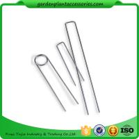Wholesale Galvanized Silver Earth Garden Landscape Staples Keep Row Covers Item Garden Earth Staples from china suppliers