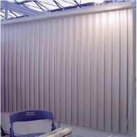 Wholesale 89mm smooth pvc vertical blinds for windows with aluminum headrail and wand control from china suppliers