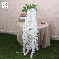 Wholesale UVG Artificial Flower Making Hanging Wisteria Flowers Manufacturer Wedding Decoration from china suppliers