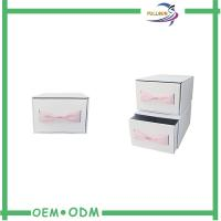 Buy cheap Custom Logo Pink Cardboard Drawer Slide Packaging Boxes Clothes Gift Boxes With Bow from wholesalers