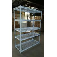 Wholesale 5 Multi Level White Light Duty Shelving Slotted - Angle Rack In Wire Mesh Deck from china suppliers