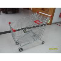 Buy cheap Zinc Plated / Colorful Coating popular Supermarket Shopping Carts 240L from wholesalers