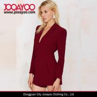 Wholesale Women Sexy Long sleeves Low V- lapel Rompers Jumpsuits With Short Pants from china suppliers