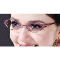 Wholesale Woman′s Rimless Crystal Eyeglasses Optical Eyewear Frames from china suppliers