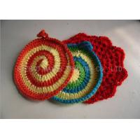 Wholesale Handmade Crochet Accessories , 100% Acrylic Full Color Kitchen Knitted Dishcloths from china suppliers