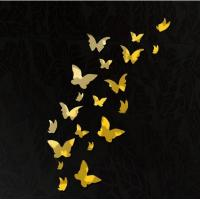 Quality DIY 3D Modern 20pcs Butterfly Wall Stickers Silver Acrylic Mirror Surface Wall Stick Home for sale