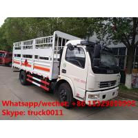 Wholesale LHD/RHD stake van truck for transporting gas cylinders for sale, hot sale best price dongfeng gas canister van truck from china suppliers