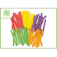 Wholesale Straight Wooden Craft Sticks For Kindergarten Biodegradable 50pcs / Bag from china suppliers